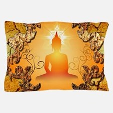 Buddha in the sunset Pillow Case