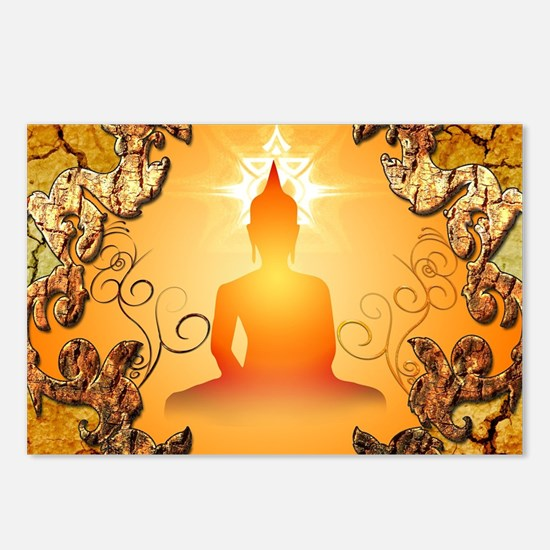 Buddha in the sunset Postcards (Package of 8)
