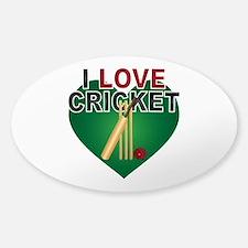 Love Cricket Sticker (Oval)
