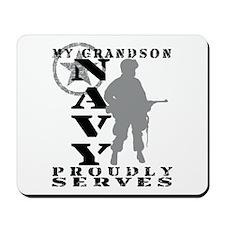 Grandson Proudly Serves - NAVY Mousepad