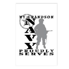 Grandson Proudly Serves - NAVY Postcards (Package