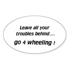 Leave / go 4 wheeling - Euro Oval Decal