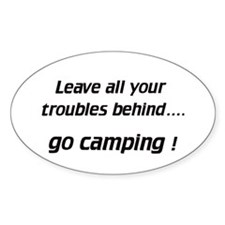 Leave / go camping - Euro Oval Decal