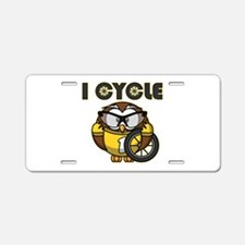 Cycling Owl Aluminum License Plate