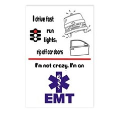 Not Crazy EMT Postcards (Package of 8)