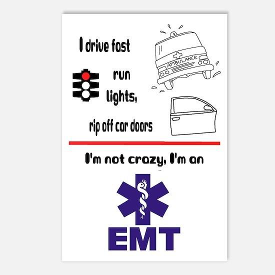 Not Crazy EMT Postcards (Package of 8)