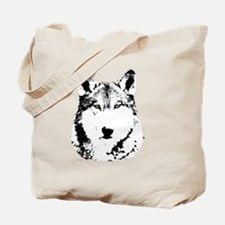 Green Eyed Wolf Tote Bag