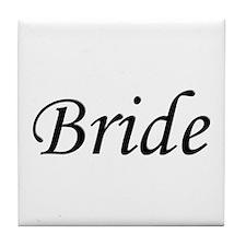 Wedding Bride Script Tile Coaster