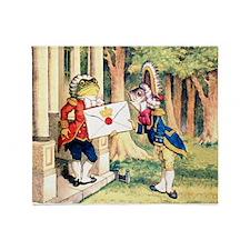 A Royal Invitation in Wonderland Throw Blanket