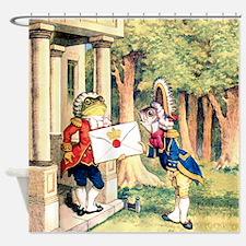 A Royal Invitation in Wonderland Shower Curtain