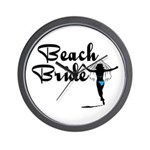 Beach Bride Wall Clock