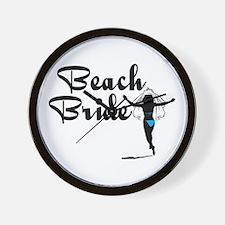 Beach Bride Wall Clock