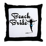 Beach Bride Throw Pillow