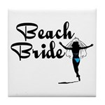 Beach Bride Tile Coaster