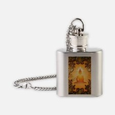 Buddha in the sunset Flask Necklace
