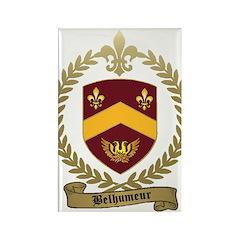 BELHUMEUR Family Crest Rectangle Magnet (100 pack)