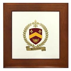 BELHUMEUR Family Crest Framed Tile