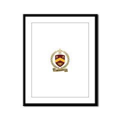 BELHUMEUR Family Crest Framed Panel Print