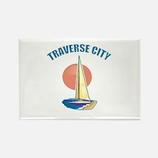 Traverse City Rectangle Magnet