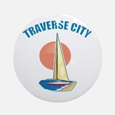 Traverse City Ornament (Round)