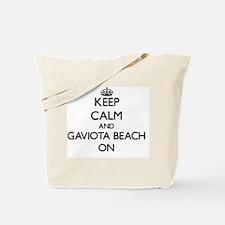 Keep calm and Gaviota Beach California ON Tote Bag