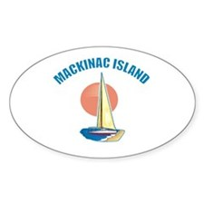 Mackinac Island Oval Decal
