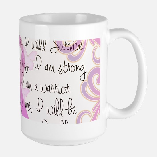 Pink Ribbon, the Fight Large Mug
