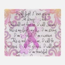 Pink Ribbon, the Fight Throw Blanket