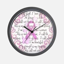 Pink Ribbon, the Fight Wall Clock