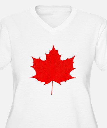 Red Maple Leaf Plus Size T-Shirt