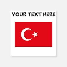 Custom Turkey Flag Sticker