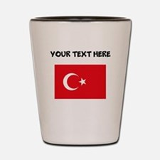 Custom Turkey Flag Shot Glass