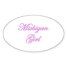 Michigan Girl Oval Decal