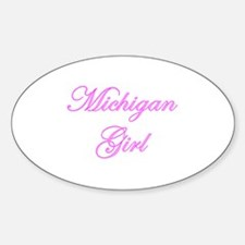 Michigan Girl Oval Decal