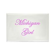 Michigan Girl Rectangle Magnet