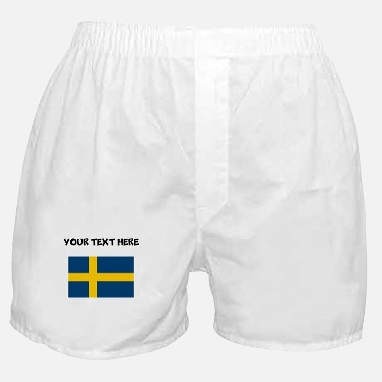 Custom Sweden Flag Boxer Shorts