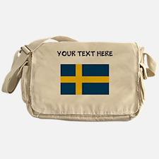 Custom Sweden Flag Messenger Bag