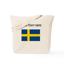 Custom Sweden Flag Tote Bag