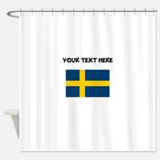 Custom Sweden Flag Shower Curtain