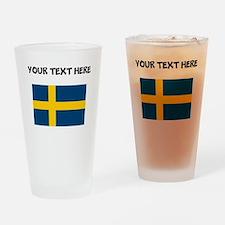 Custom Sweden Flag Drinking Glass