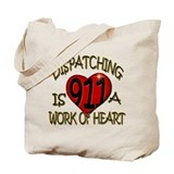 911 dispatcher Canvas Totes