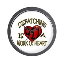 """""""Dispatching is a work of heart"""" (TM) Wall Clock"""