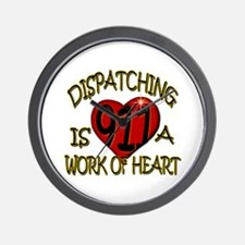 """Dispatching is a work of heart"" (TM) Wall Clock"