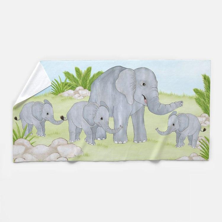 Baby elephants bathroom accessories decor cafepress for Elephant bathroom accessories