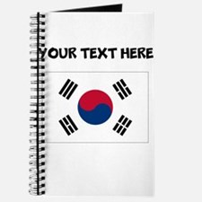 Custom South Korea Flag Journal