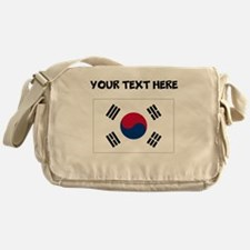 Custom South Korea Flag Messenger Bag