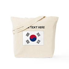 Custom South Korea Flag Tote Bag