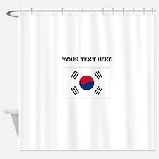 Custom South Korea Flag Shower Curtain