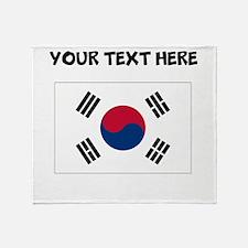 Custom South Korea Flag Throw Blanket