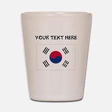 Custom South Korea Flag Shot Glass